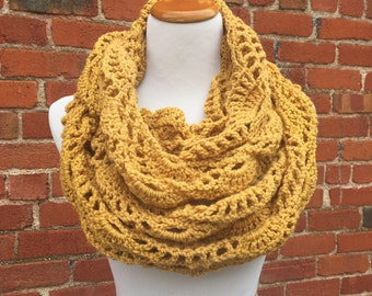 Lace Waves Infinity Scarf