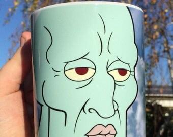 Hansome Squidward 15oz ceramic mug