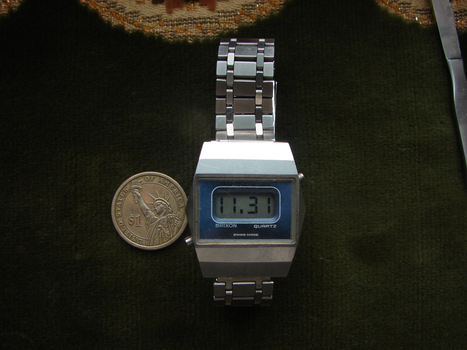 vintage swiss made led digital s wrist