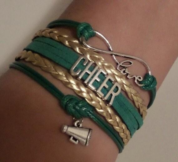 Cheer Charm Bracelets: Items Similar To Cheer Bracelet, Infinity Love Bracelet