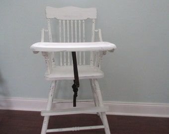 Sold-High Chair, Shabby Chic High chair, vintage chair