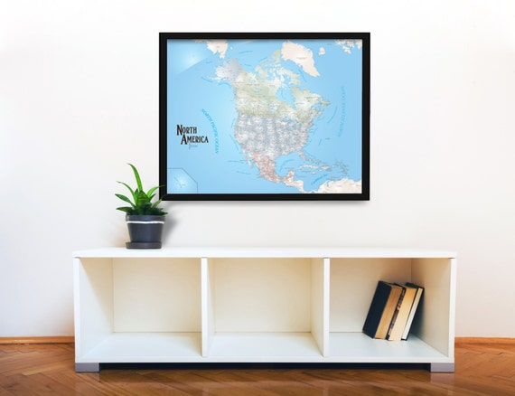 North America Magnetic Push Pin Travel Map Pushpin Map US - Magnetic us wall map