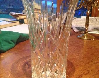 Lead Crystal Vase, Flared Crystal Vase