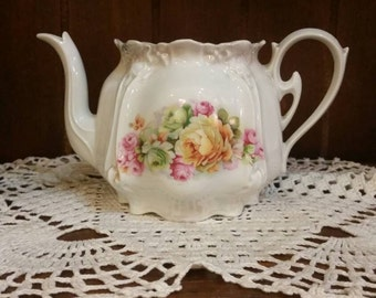 Antique Floral Tea Pot