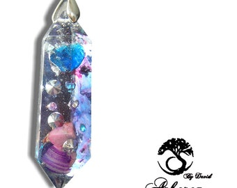 Orgonite Pendant Orgonite® Crystal Healing Pendant, with cord orgone jewelry