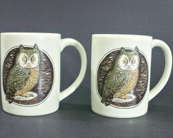 Vintage OWL mugs Set of 2