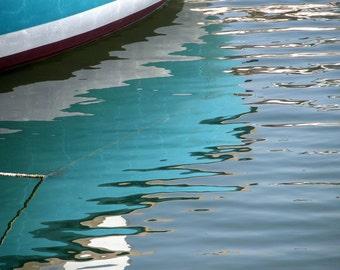 Photography print : Blue seascape, France photography, nautical photography, Mediterranean decor wall art, wall decor, nautical print.