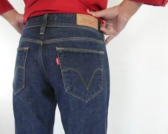 Levis 470, straight leg, blue jeans, Levis size 30 W 32 L, vintage Levis, women's Levis jeans, vintage clothing.
