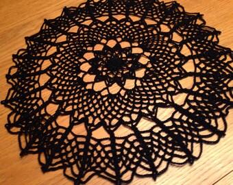 Black Spiderweb Doily