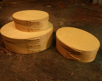 Set of 3 Maple Shaker Boxes