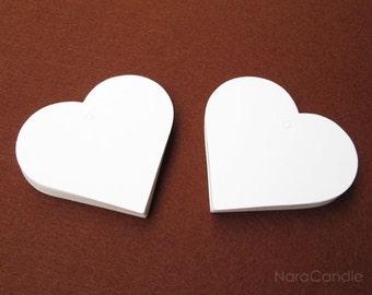 White Tag,  White Gift Tag, White Heart Tag, White Earring Card Set of 100