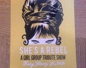 She's a Rebel 2 Letterpress Poster
