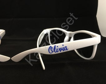 Fun sunglasses for wedding (bridge/groom) favors, birthday parties, family reunions, graduation, vacations