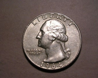 1964 D Silver Washington Quarter US Coin UNC #2709