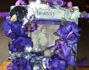 """Gypsy Themed 4x4 canvas """"Beauty"""""""