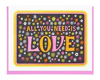 All You Need Is Love Letterpress Card