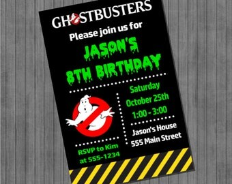 ON SALE!!  Ghostbusters Party Invitations