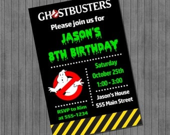 Ghostbusters Party Invitations
