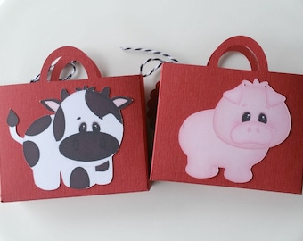 Birthday party favors/set of 10/birthday favor bags/ farm themed party favor