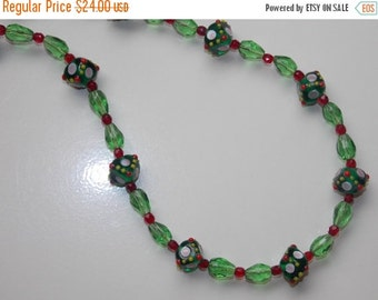 25%OFF Christmas Lampwork Necklace