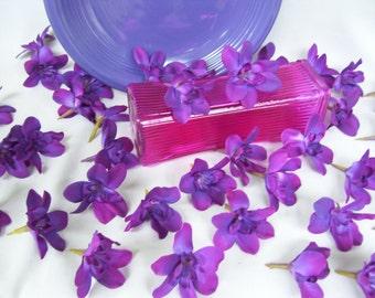 20 Vibrant Purple Island Dendrobium Orchid Heads