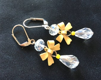 earrings yellow bow