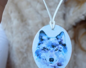 Wolf pendant necklace Teen Wolf jewelry Wolf Woodland wood necklace Wild Animal jewelry teen girl gift Girlfriend gift Mom gift woman gift