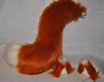 Copper Fox Set! (ears and tail)