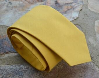 Mustard yellow necktie,mens neckties,mens tie and suspenders