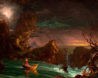 "Thomas Cole : ""The Voyage of Life III - Manhood"" (1842) - Giclee Fine Art Print"