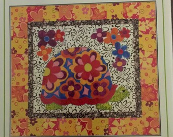 Linderella's Quilt Design Studio Flower Power Pattern #02109 Whimsical Appliqued Wallhanging