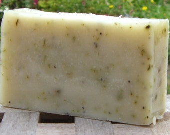 Herb Garden Soap, with Essential oils, Herbs and Poppy seeds. Handmade in Kent. Herbal Soap. Gardeners Gift. UK seller