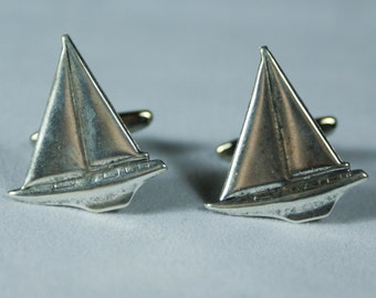 Sailboat Cufflinks Free Gift Bag