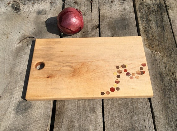Maple Cutting Board with Dot Wave Design