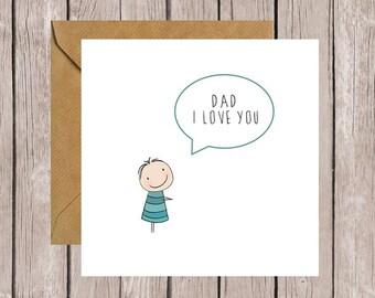 Dad I Love You Card (Boy)