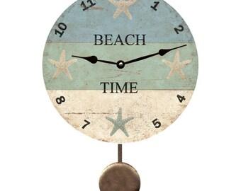 Beach Time Pendulum Clock