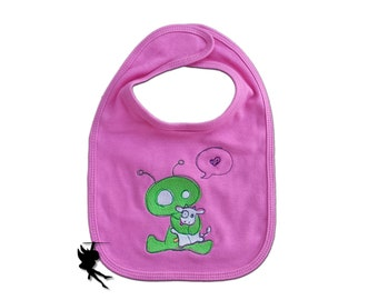 Baby ALIEN Baby Bib Interlock