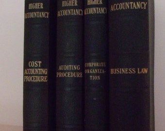 Set of Business Accounting, Law and Business College Reference Books 1960