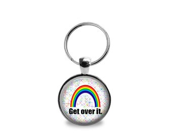 Gay Pride Pendant 2 or Keychain