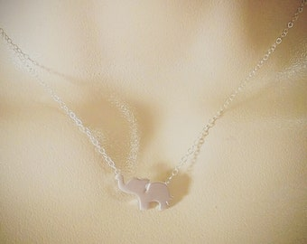 Silver Elephant Necklace - Lucky Elephant Necklace, Sterling Silver Necklace