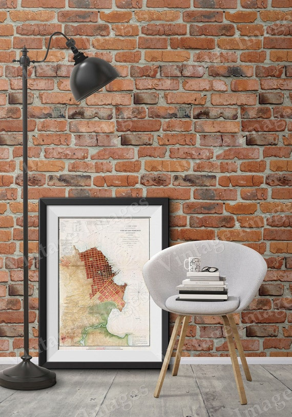 San Francisco Map 1853 San Francisco Bay map Restoration Hardware Style Vintage Map of San Francisco Large California wall Map wall art