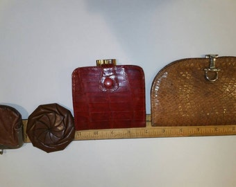 Vintage leather wallets/change purses.