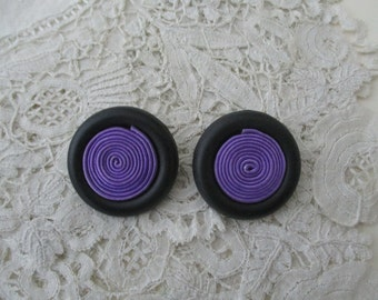 Retro earrings clip ons