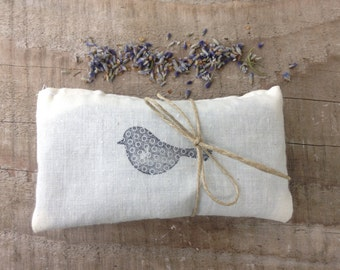 Set of two Lavender Bird Sachets- woodland, natural home, lavender sachets, bird decor, aromatherapy
