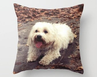 Dog Pillow Cover, Indoor Throw Pillow Cover, Throw Pillow Cover, Throw Pillow, Animal Design, Animal Art, Animal Pillow, Pillow Cover