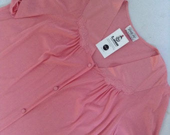 Vintage Lingerie 1960's Pink Pajamas Short Sleeve Top Lounge Wear Vanity Fair Made in USA No. 50