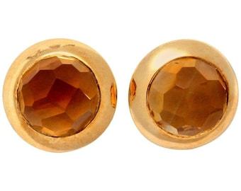 Pomellato Citrine Gold Earrings