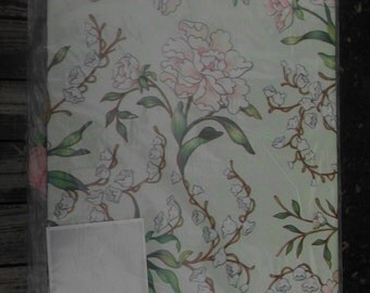 Vintage gift wrap/wrapping paper/all occasion/color mates/Artfaire/Floral gift wrap/light green background/Wedding/jumbo sheet