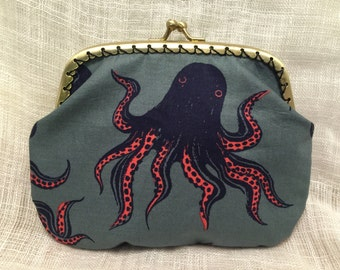 Large Octopus Coin Purse