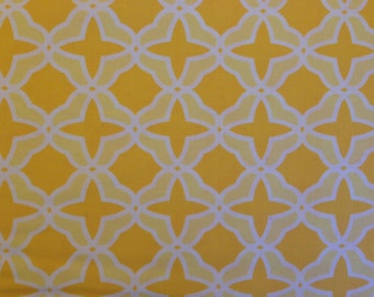 Moda fabric by the yard - yellow fabric #16075
